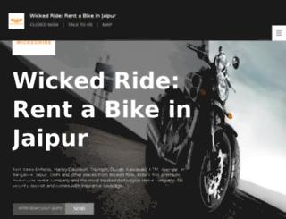 jaipur.wickedride.com screenshot