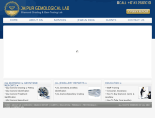 jaipurgemologicallab.com screenshot