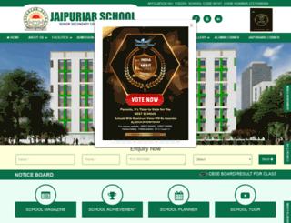 jaipuriarschool.org screenshot