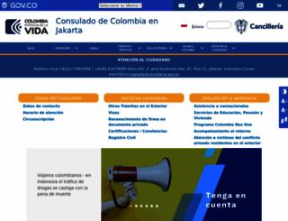 jakarta.consulado.gov.co screenshot