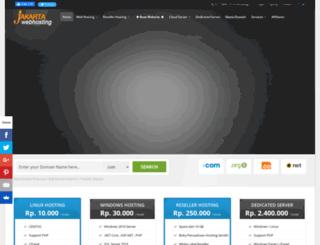 jakartawebhosting.com screenshot
