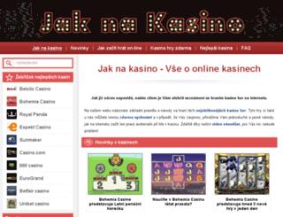 jaknakasino.cz screenshot