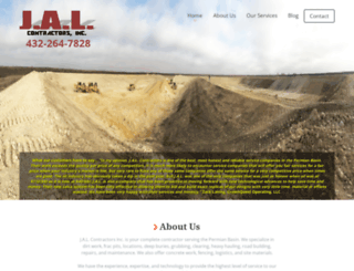 jalcontractors.com screenshot