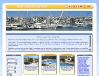 jalon-valley-holiday-villas.co.uk screenshot