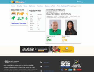 jamaica-elections.com screenshot