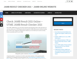 jambcbtresult.org screenshot