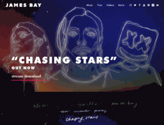 jamesbaymusic.com screenshot