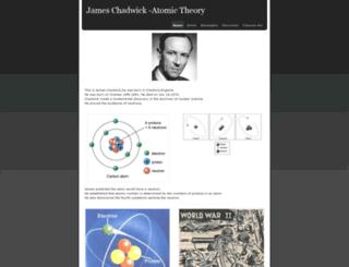 jameschadwickatomictheory.weebly.com screenshot