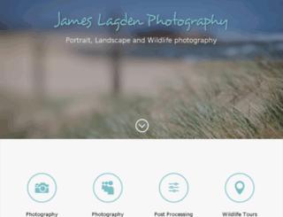 jameslagden.com screenshot