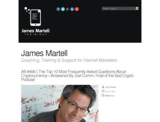 jamesmartell.com screenshot