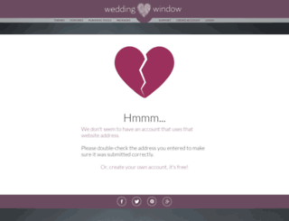 jamespandmarissah.weddingwindow.com screenshot