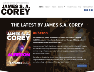 jamessacorey.com screenshot