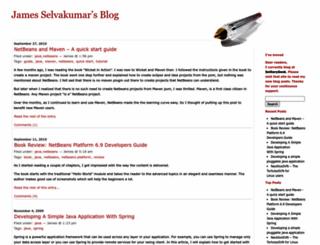jamesselvakumar.wordpress.com screenshot