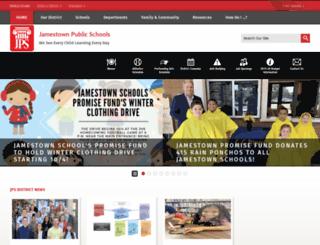 jamestownpublicschools.org screenshot