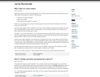 jamiemonserrate.wordpress.com screenshot