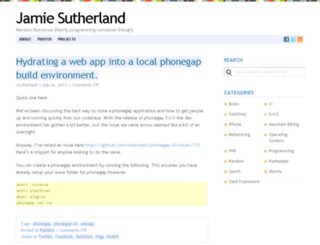 jamiesutherland.com screenshot