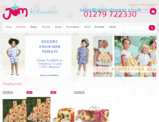 jamkidswear.co.uk screenshot