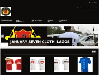 jan7clothing.com screenshot