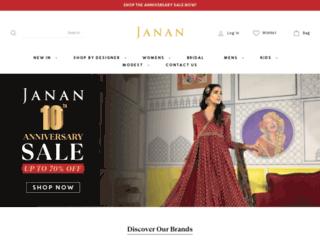 janan.co.uk screenshot