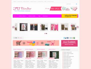 jandjbinder.com screenshot