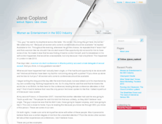 janecopland.co.uk screenshot