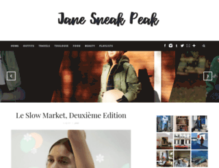 janesneakpeak.com screenshot