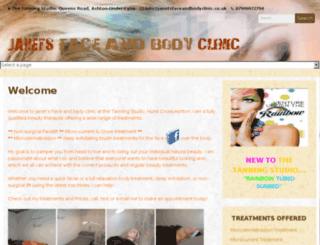 janetsfaceandbodyclinic.co.uk screenshot