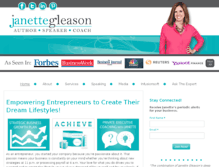 janettegleason.com screenshot