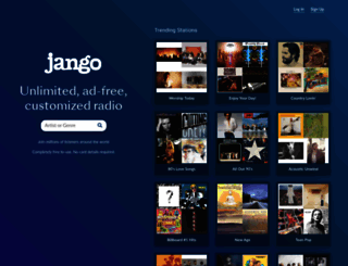 jango.com screenshot