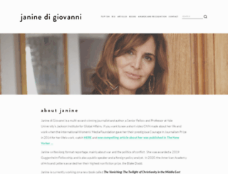 janinedigiovanni.com screenshot