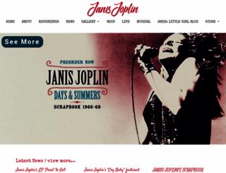 janisjoplin.com screenshot