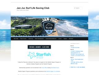 janjucsurfclub.com.au screenshot