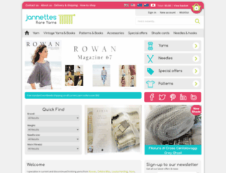 jannettesrareyarns.co.uk screenshot