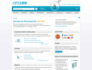 janolaw.de screenshot