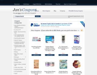 janscoupons.com screenshot