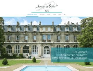 janson-de-sailly.fr screenshot