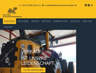 janssen-baumaschinen.com screenshot