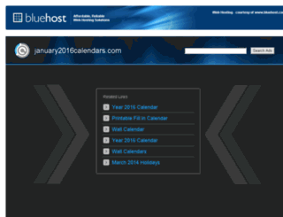 january2016calendars.com screenshot
