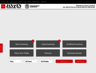 janzentoyota.calls.net screenshot