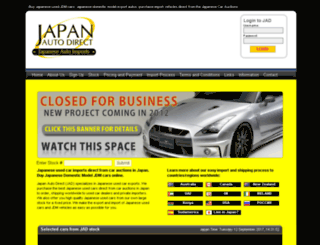 japanautodirect.com screenshot
