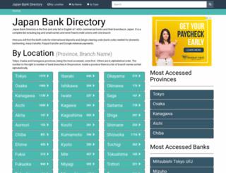 japanbankdirectory.com screenshot