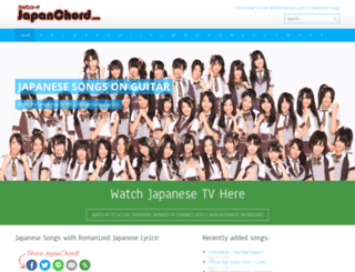 japanchord.com screenshot