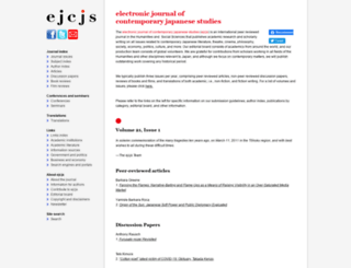 japanesestudies.org.uk screenshot