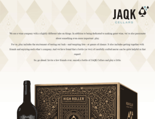 jaqkcellars.com screenshot