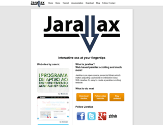 jarallax.com screenshot
