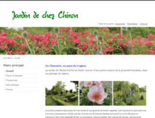 jardindechezchiron.fr screenshot