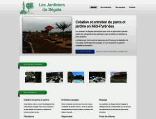 jardiniers-segala.fr screenshot