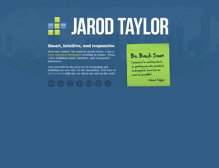 jarodtaylor.com screenshot