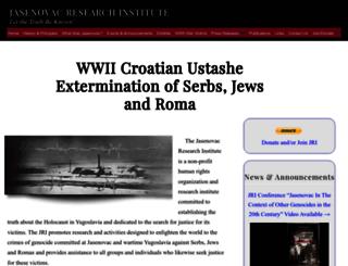 jasenovac.org screenshot