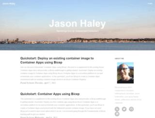 jasonhaley.com screenshot